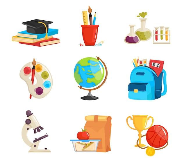 Набор мультяшных школьных принадлежностей