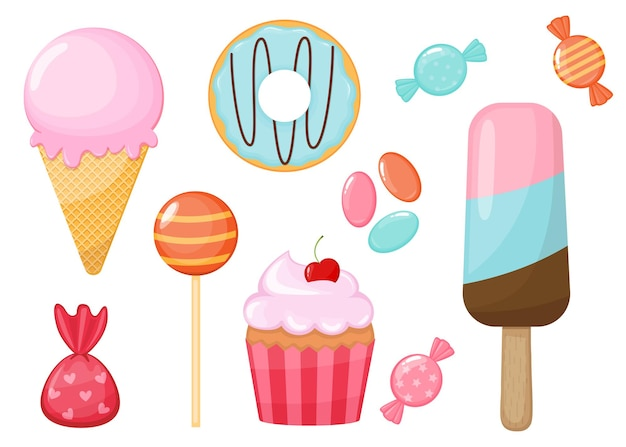 漫画のお菓子とキャンディーのセット