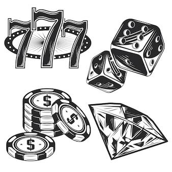 カジノ要素のセット