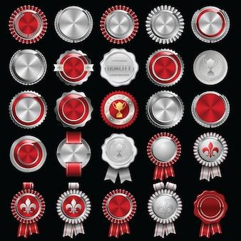 Набор сертификатов сургучной печати и значков