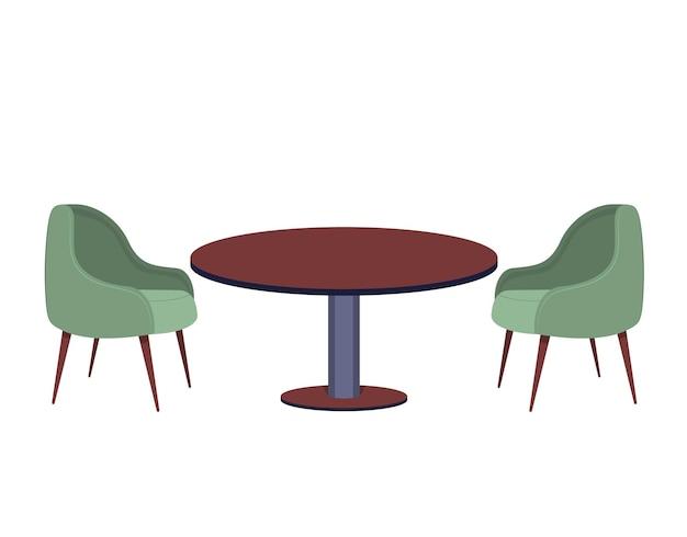 레스토랑과 카페를 위한 의자와 테이블 세트 간단한 인테리어, 식사용 물건