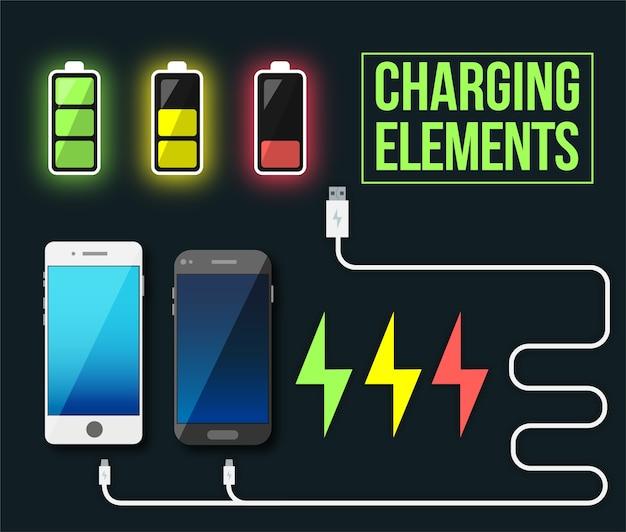 Набор элементов зарядки
