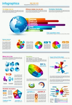 Set of chart and Infographics design elements