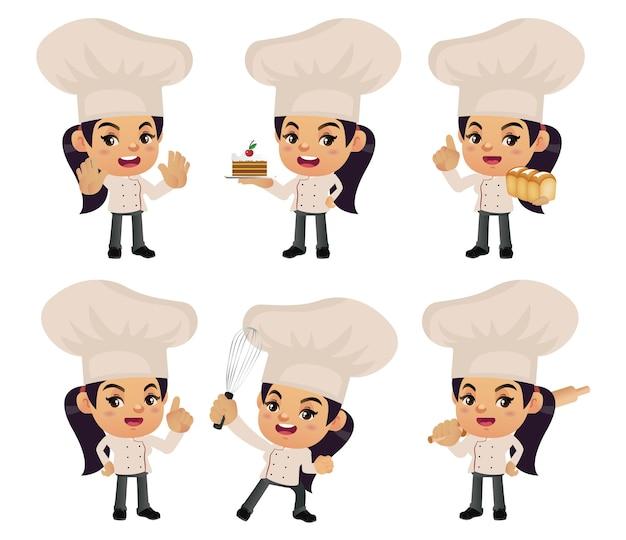 Набор шеф-повара с разными позами