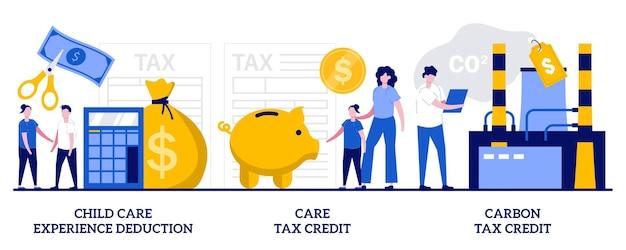 Набор вычетов по уходу за ребенком, налоговый кредит по уходу, налоговый кредит на выбросы углерода
