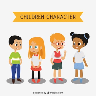 Set of children characters