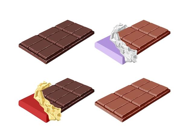 Набор плиток шоколада.