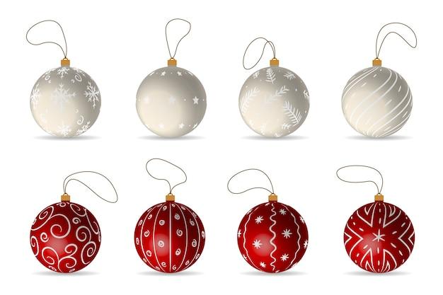クリスマスボールのセット