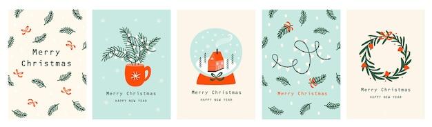 Набор рождественских открыток с елкой