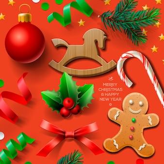 クリスマス要素、イラストのセット