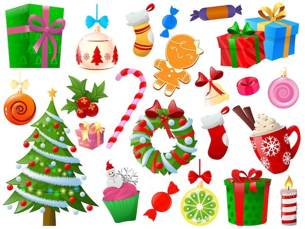クリスマス要素のセット