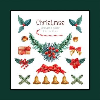 Набор рождественских элементов