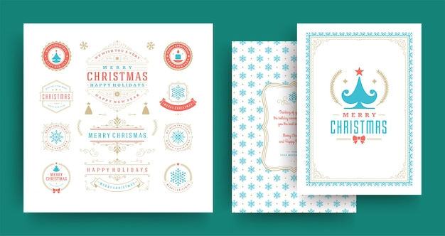 크리스마스 인사말 카드 세트