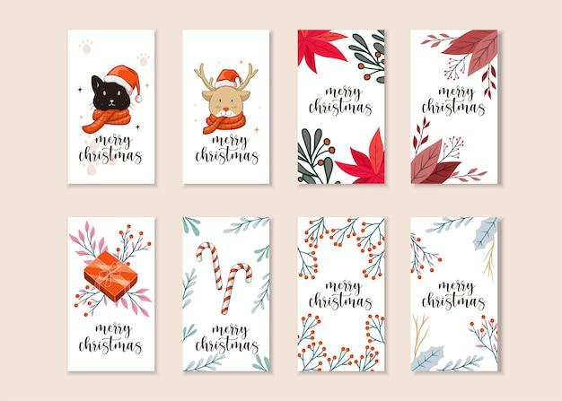 Набор рождественских историй instagram