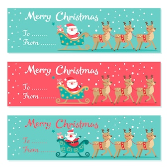Set of Christmas invitations card