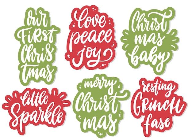 赤ちゃんのためのクリスマスの保育園の引用符のセット