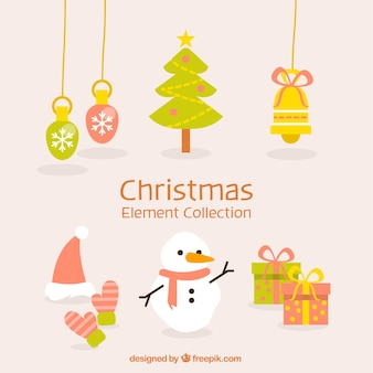 Набор рождественских украшений с снеговиком