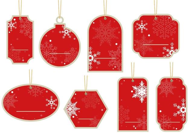 クリスマスの値札のセット