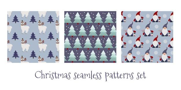 크리스마스 완벽 한 패턴의 집합