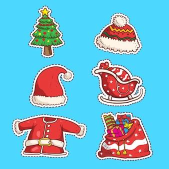 Набор рождественских наклеек