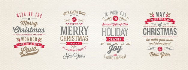 크리스마스 유형 디자인의 집합입니다.