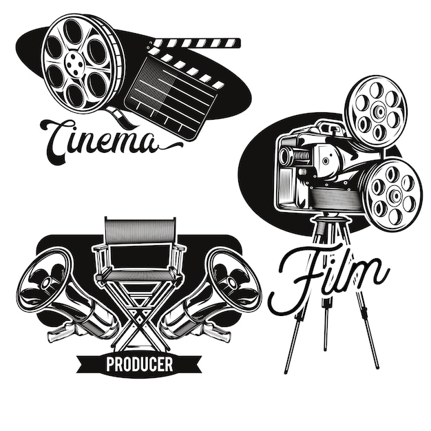 Набор эмблем кино