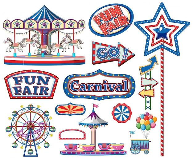 Набор цирковых предметов