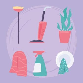 청소 장비 세트