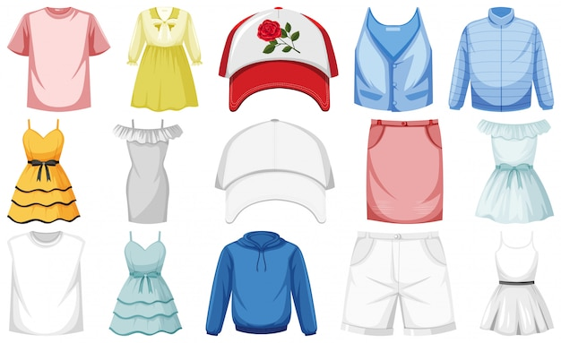 モックアップの服のセット