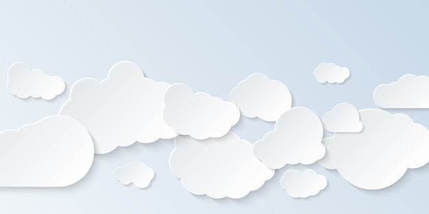 雲のセット。孤立した漫画の雲