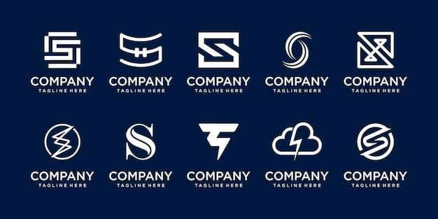 Набор шаблонов логотипа буквица s.