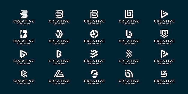 抽象とコレクションのモノグラム文字bのセット