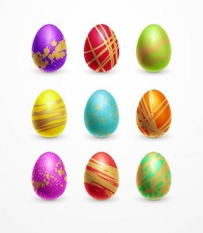 부활절 달걀 색의 집합입니다.