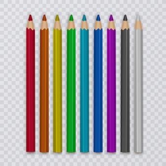 描く色鉛筆のセット、創造性と学校のためのツール