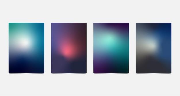 Набор красочных a4 размытый фон.
