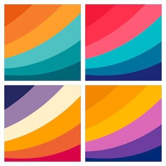 다채로운 추상적 인 인쇄 배경 세트