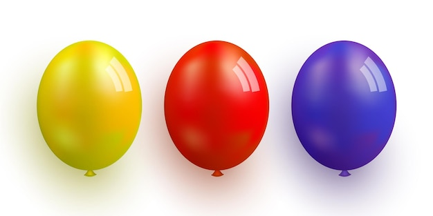 カラフルな気球のセットベクトルイラスト