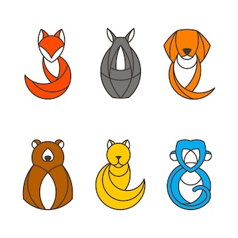 다채로운 동물 벡터의 집합