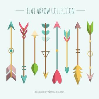 Набор красочных стрелок для обозначения в плоском стиле