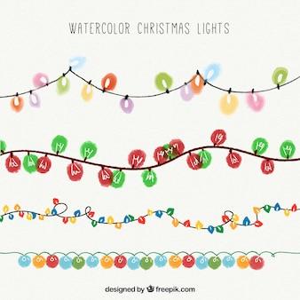 Набор красочных рождественских гирлянд