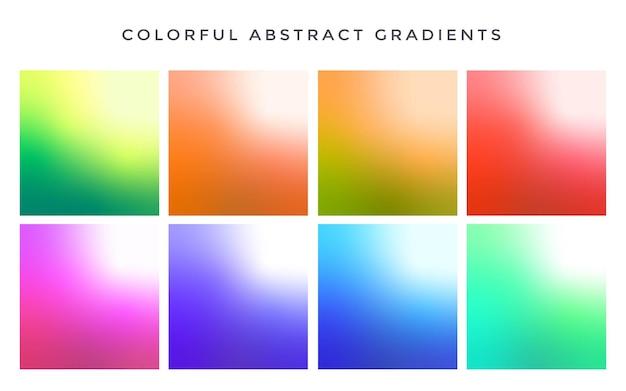 Набор красочных цветовых градиентов Premium векторы