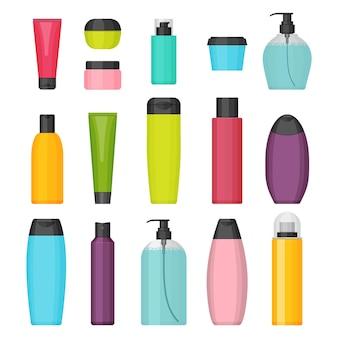 뷰티 및 클렌저, 스킨 및 바디 케어, 화장실을위한 다채로운 화장품 병 세트