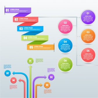 Set of colorful infographic elements
