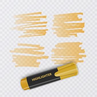 Набор красочных маркеров с изолированными элементами маркера.