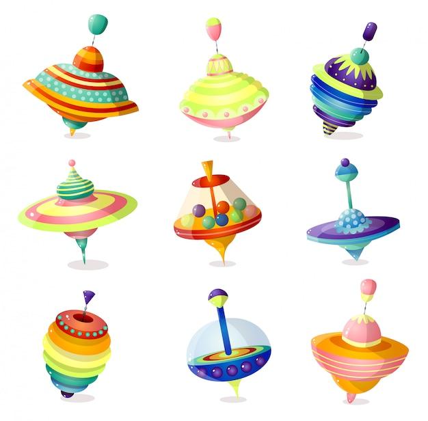 Набор красочных современных игрушек карусели для детей дома