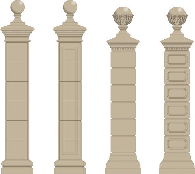 Комплект из колонны 3 Premium векторы