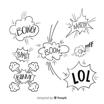 Набор комиксов речи