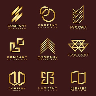 회사 로고 디자인 아이디어 벡터의 집합