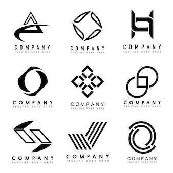 Set of company logo design ideas