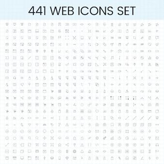 컴퓨터 아이콘 벡터의 집합